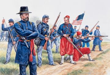 Union Infantry and Zouaves 1/72 Scale